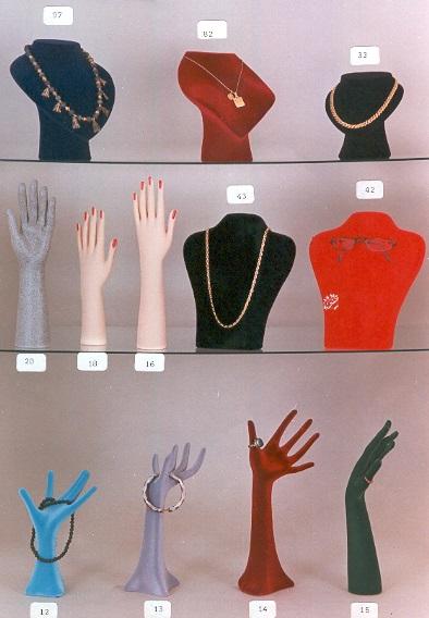 espositori vellutati gioielleria